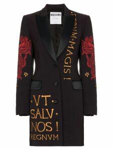 Moschino embroidered blazer dress - Black