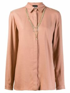 Just Cavalli multi-chain neck shirt - Neutrals