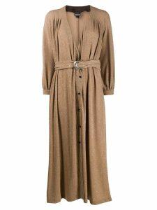 Just Cavalli belted glitter maxi dress - Neutrals