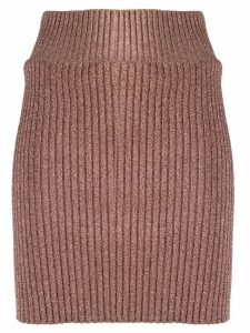 Alberta Ferretti ribbed knit skirt - Pink