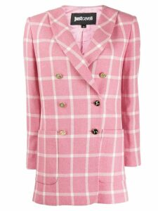 Just Cavalli double breasted check blazer - Pink