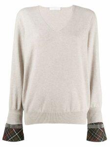 Fabiana Filippi v-neck sweatshirt - Neutrals