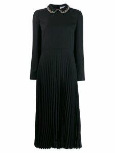 Red Valentino pleated midi dress - Black