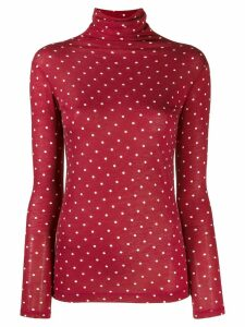 Semicouture polka-dot roll-neck top - H65