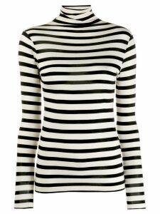 Semicouture stripe roll-neck top - White