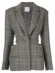 Christopher Esber loophole tie back blazer - Grey