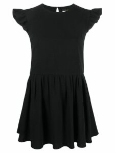Saint Laurent ruffled sleeves short dress - Black