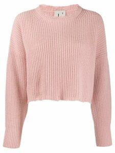 L'Autre Chose cropped relaxed-fit jumper - Pink