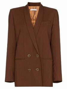 Rejina Pyo double-breasted wool blazer - Brown
