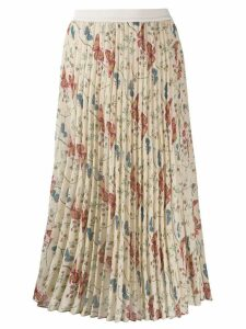 Semicouture pleated floral skirt - Neutrals