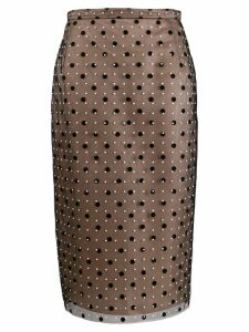 Nº21 polka dot pencil skirt - Black