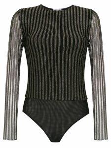 Nk lurex knit bodysuit - Black