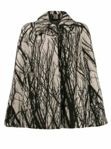 Erika Cavallini tree print jacket - White