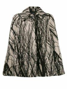 Erika Cavallini tree print jacket - White