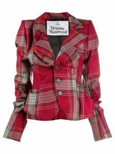 Vivienne Westwood check pattern blazer - Red