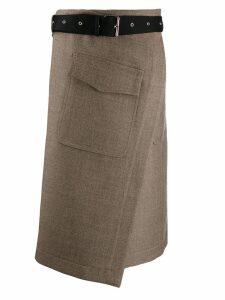 Erika Cavallini wrap style skirt - Neutrals