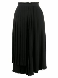 Ermanno Scervino asymmetric pleated midi skirt - Black