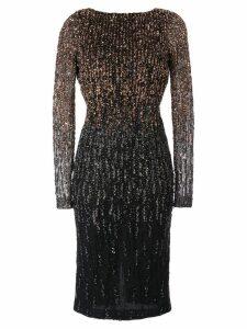 Rachel Gilbert Amabel sequin ombré dress - Black