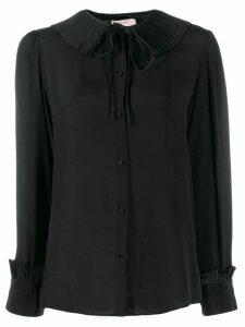 Twin-Set pleated collar blouse - Black