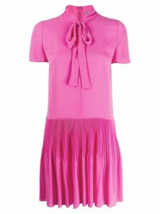 Red Valentino RED(V) tied neckline mini dress - Pink