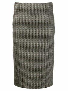 Luisa Cerano houndstooth straight skirt - Black