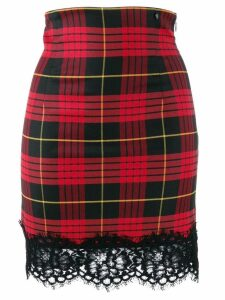 Twin-Set jacquard tartan skirt - Black