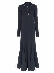 Y/Project polo shirt maxi dress - Blue