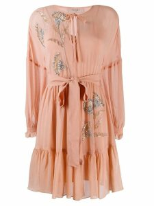 Twin-Set beaded details dress - Pink