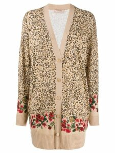 Twin-Set double print cardigan - Neutrals