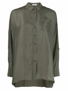 Brunello Cucinelli oversized shirt - Green