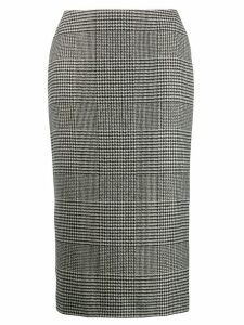 Ermanno Scervino glen plaid midi skirt - Black