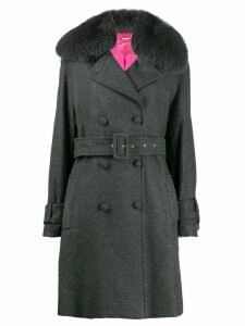 Blumarine double-breasted coat - Grey