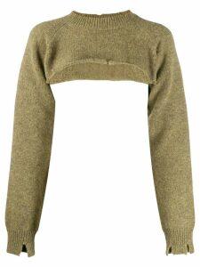 Maison Margiela knitted crop top - Green
