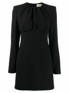 Sara Battaglia long sleeve mini dress - Black
