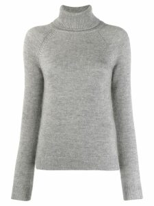 Saint Laurent roll neck jumper - Grey