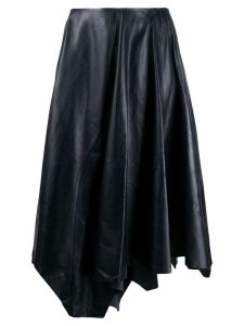 Marni leather pleated skirt - Blue