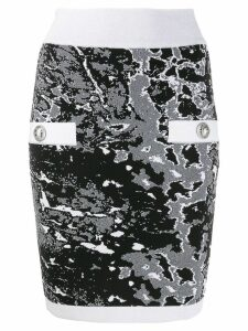 Balmain fitted zip skirt - Black