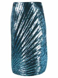 Marco De Vincenzo sequin skirt - Blue