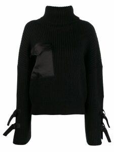 David Koma roll-neck sweater - Black