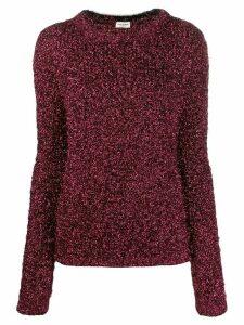 Saint Laurent metallic textured jumper