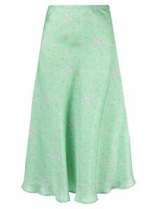 Maggie Marilyn bias cut midi skirt - Green