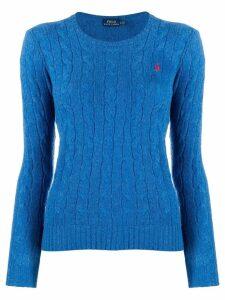 Polo Ralph Lauren logo knitted sweater - Blue