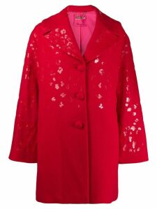 Blumarine leopard print coat - Red
