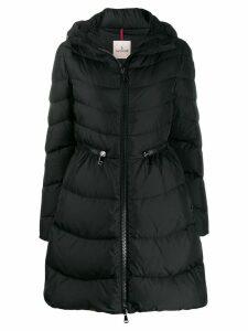 Moncler zipped waisted puffer jacket - Black