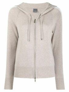 Lorena Antoniazzi knit zipped hoodie - Grey