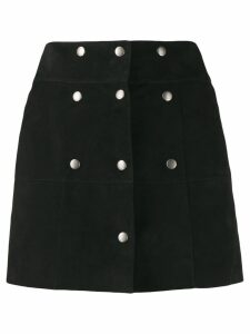 Saint Laurent button panelled mini skirt - Black