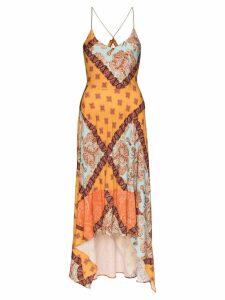 Esteban Cortazar mixed paisley print midi dress - MULTICOLOURED