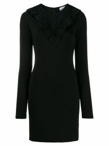 Red Valentino ruffle collar mini dress - Black