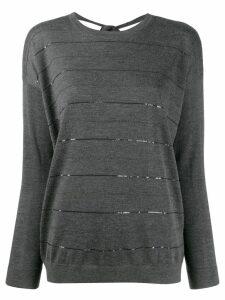 Brunello Cucinelli striped jumper - Grey