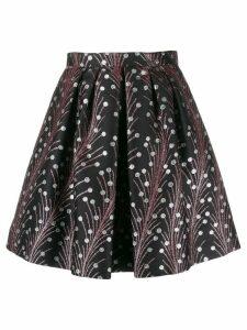 Marco De Vincenzo floral mini skirt - Black